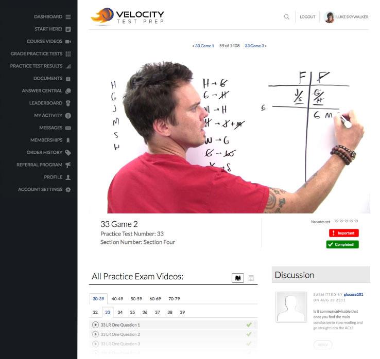 Velocity Test Prep | Online LSAT Prep Courses & Resources